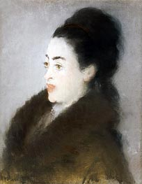 Woman in a Fur Coat in Profile | Manet | veraltet