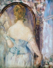 Woman Before a Mirror, c.1876/77 by Manet | Painting Reproduction