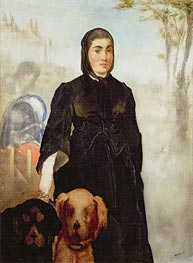 Woman With Dogs, 1858 by Manet | Painting Reproduction