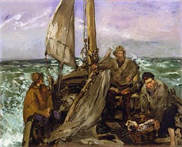 The Toilers of the Sea, 1873 by Manet | Painting Reproduction