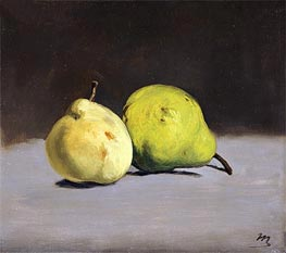 Two Pears, 1864 by Manet | Painting Reproduction