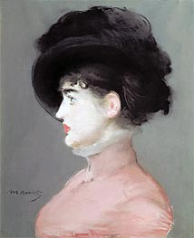 La Viennoise (Portrait of Irma Brunner), c.1880 by Manet | Painting Reproduction