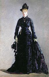 A Parisian Lady, undated by Manet | Painting Reproduction