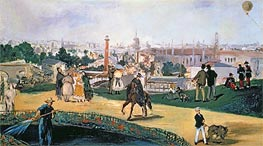 The Exposition Universelle, 1867 by Manet | Painting Reproduction