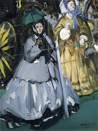 Women at the Races, 1865 by Manet | Painting Reproduction