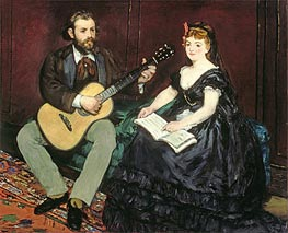 Music Lesson, 1870 by Manet | Painting Reproduction