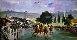 The Races at Longchamp, 1866 by Manet | Painting Reproduction