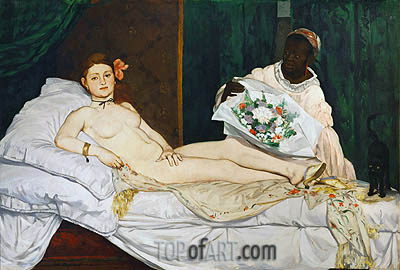 Olympia, 1863 | Manet| Painting Reproduction
