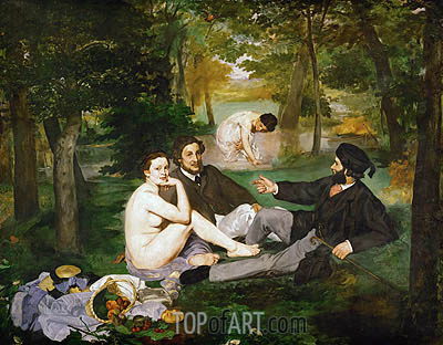 The Lunch on the Grass - Edouard Manet - Hand-Painted Painting ...