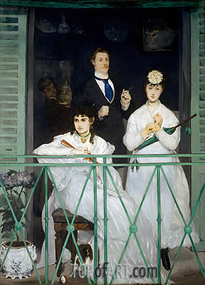 Manet | The Balcony, c.1868/69