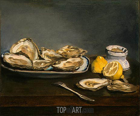 Oysters, 1862 | Manet | Painting Reproduction