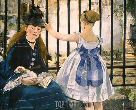 The Railway, 1873 | Manet | Painting Reproduction