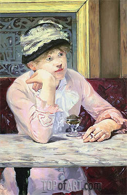 Plum Brandy, 1878 | Manet | Painting Reproduction