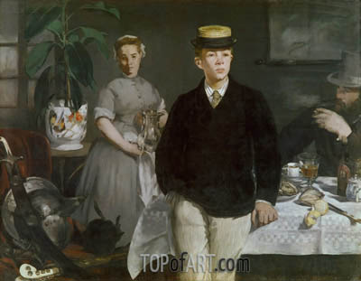 The Luncheon in the Studio, 1868 | Manet| Painting Reproduction