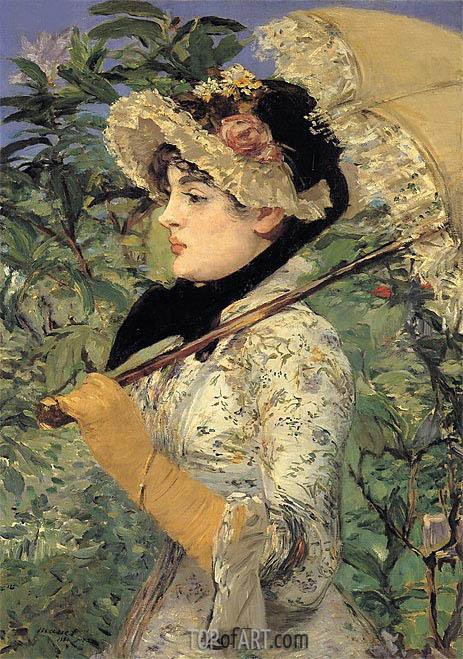 Jeanne - Spring, 1881 | Manet | Painting Reproduction