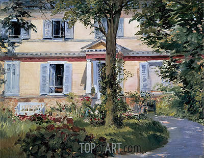 The House at Rueil, 1882 | Manet| Gemälde Reproduktion