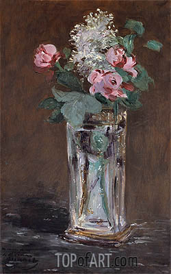 Flowers in a Chrystal Vase, c.1882 | Manet| Painting Reproduction