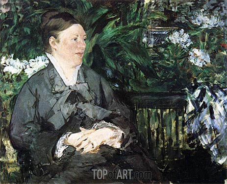 Madame Manet in the Conservatory, 1879 | Manet | Gemälde Reproduktion