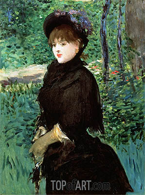 The Promenade, c.1880 | Manet | Gemälde Reproduktion