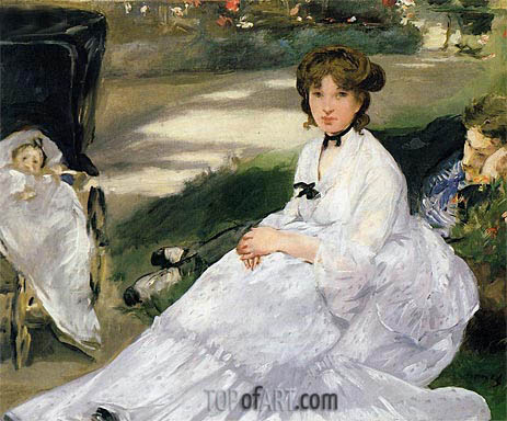 In the Garden, 1870 | Manet | Painting Reproduction