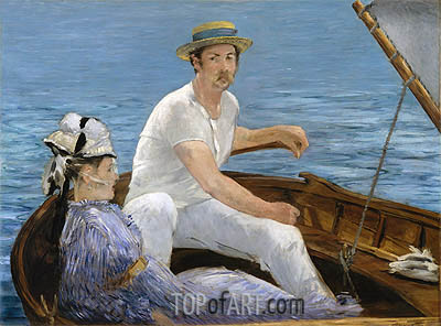 Boating, 1874 | Manet| Painting Reproduction