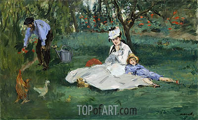 Manet | The Monet Family in Their Garden at Argenteuil, 1874