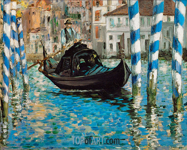 The Grand Canal, Venice (Blue Venice), 1874 | Manet | Painting Reproduction