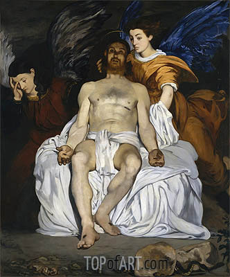 The Dead Christ and the Angels, 1864 | Manet| Painting Reproduction