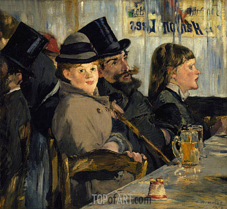 Au Cafe, 1878 | Manet | Painting Reproduction