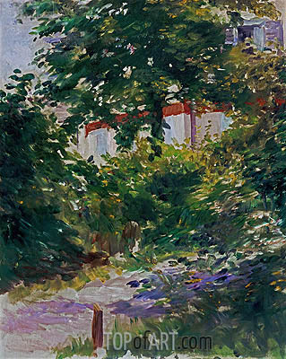A Corner of the Garden in Rueil, 1882 | Manet | Gemälde Reproduktion