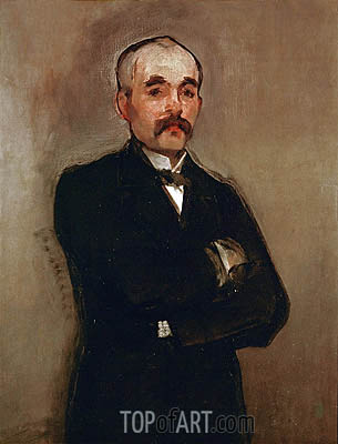 Portrait of Georges Clemenceau, 1879 | Manet | Painting Reproduction