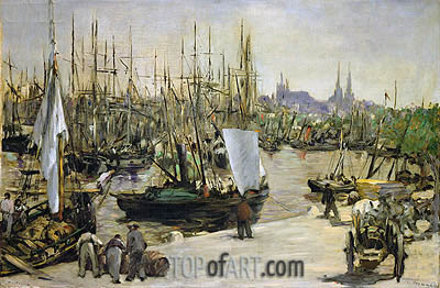 The Port of Bordeaux, 1871 | Manet| Painting Reproduction