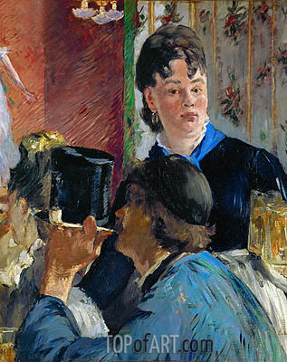 Beer Drinking (The Waitress), c.1878/79 | Manet| Painting Reproduction