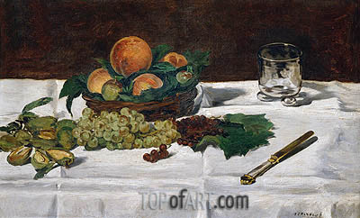 Still Life: Fruit on a Table, 1864 | Manet | Painting Reproduction