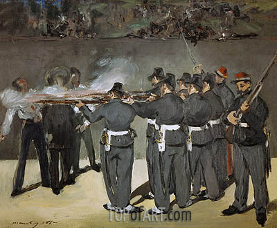 The Execution of the Emperor Maximilian, 1867 | Manet| Painting Reproduction