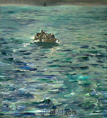 Manet | The Escape of Henri de Rochefort 20 March 1874, c.1880/81