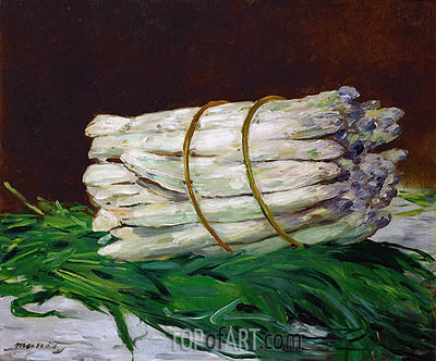 A Bunch of Asparagus, 1880 | Manet | Gemälde Reproduktion