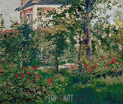 The Bellevue Garden, 1880 | Manet | Painting Reproduction