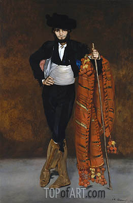 Young Man in the Costume of a Majo, 1863 | Manet | Painting Reproduction