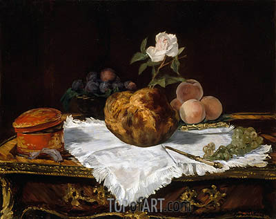 The Brioche, 1870 | Manet | Painting Reproduction