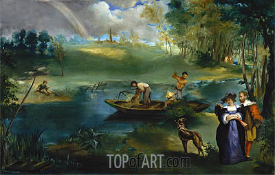 Fishing, c.1862/63 | Manet | Painting Reproduction