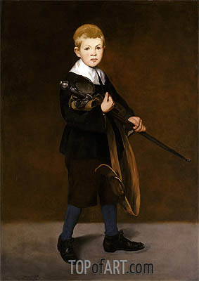 Boy with a Sword, 1861 | Manet| Painting Reproduction