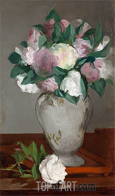 Peonies, c.1864/65 | Manet | Painting Reproduction