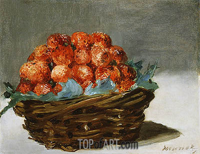 Strawberries, c.1882 | Manet| Gemälde Reproduktion