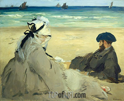 Manet | At the Beach, 1873