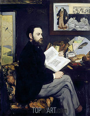 Emile Zola, c.1867/68 | Manet | Painting Reproduction