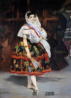 Lola de Valence, 1862 | Manet | Painting Reproduction