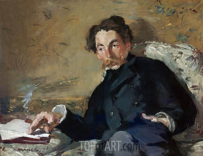Stephane Mallarme, 1876 | Manet| Painting Reproduction