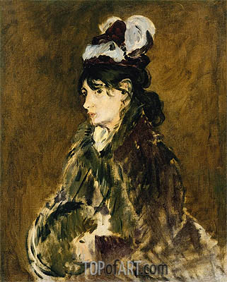 Berthe Morisot, c.1873 | Manet| Painting Reproduction