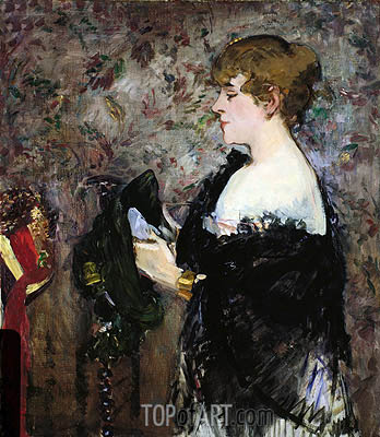 At The Milliner's, 1881 | Manet| Gemälde Reproduktion